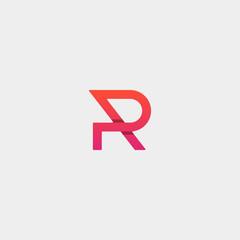 Letter P PR RP Monogram Logo Design Minimal