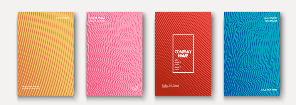 Minimalist modern cover collection design. Dynamic colorful halftone gradients. Future geometric patterns lines and dots vector background. Trendy minimalist poster template for business, web