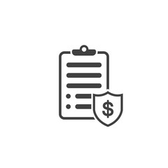 Penalty document icon in black color on a white background