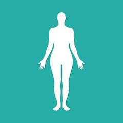 Woman human body silhouette. Vector illustration eps10