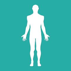 Man human body silhouette. Vector illustration eps10