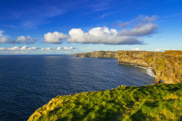 Wall Mural - Cliffs of Moher in Ireland at sunny day, Co. Clare