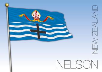 Nelson flag, New Zealand, vector illustration