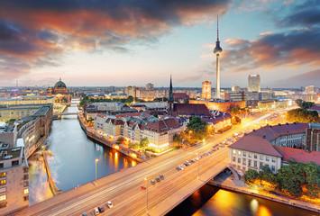 Wall Mural - Germany, Berlin cityscape