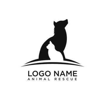 logo animal rescue unique