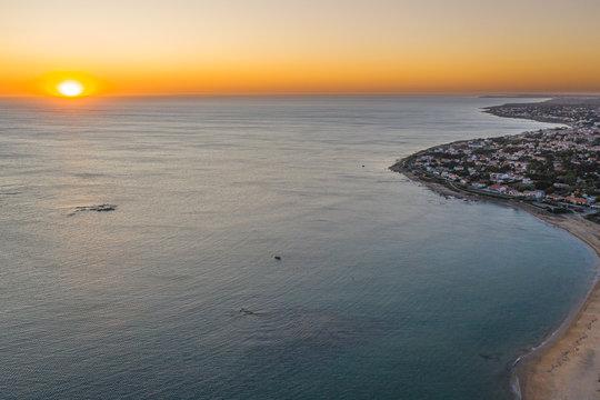 coucher de soleil sur Bretignolles