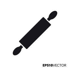 Rolling pin vector glyph icon