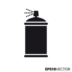 Spray paint can vector glyph icon