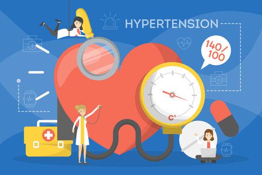 Hypertension concept. Idea of high blood pressure