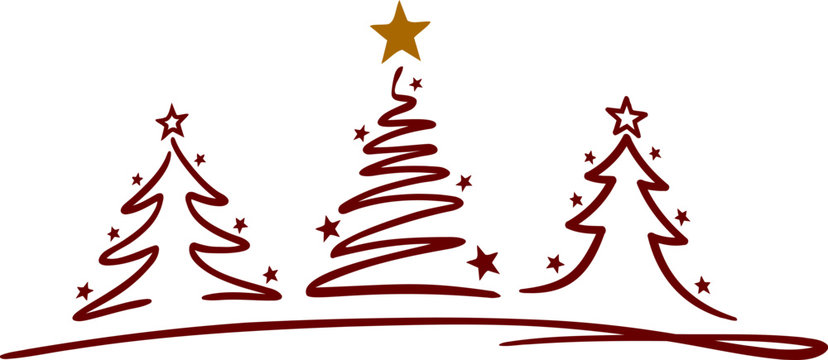 Christmas Tree Vector Silhouette