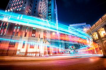 Motion speed effect in modern city street