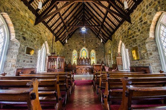 """Inside architecture of Church Warleigh"""" in Hatton - Dick oya, Sri Lanka"""