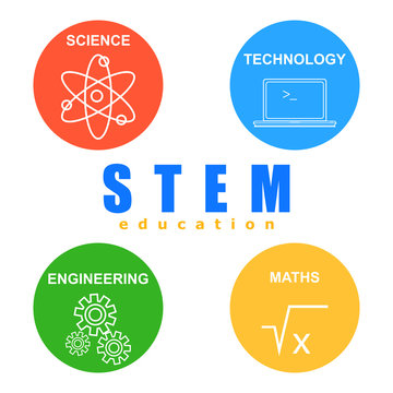 STEM education icons