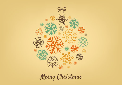 Decorative Digital Christmas Ornament Layout