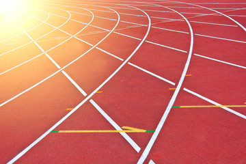 Athletics track. Wall mural