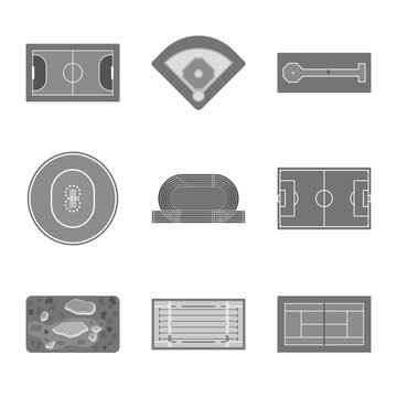 Isolated object of grass and game sign. Set of grass and construction stock symbol for web.