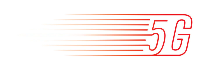 faster 5g logo. vector 5g logo