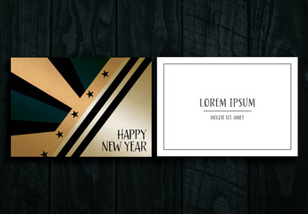 New Year Greeting Card Layout