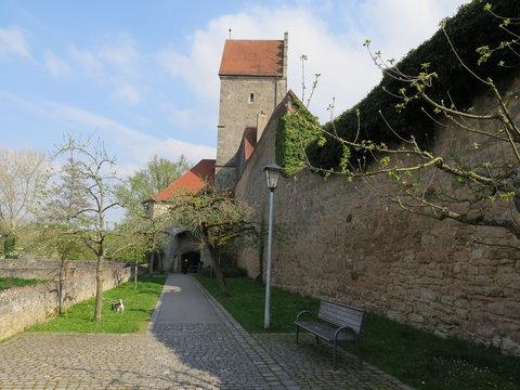 Stadtmauer am Rothenburger Tor in Dinkelsbühl