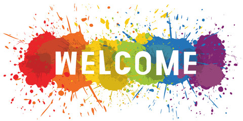 Paint Splat - Welcome