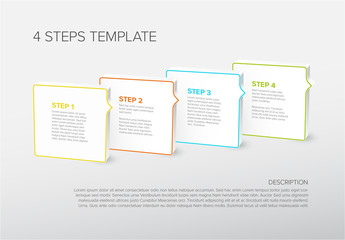 Four Steps Instructions Infographic