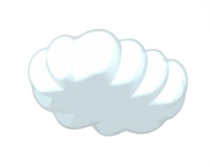 White cloud with contour, vector image, cloud storage logo - free images, computer icons, cloud computing, upload, black and white cartoon hand drawn cloud cartoon bubble, thought bubble - Stock Photo