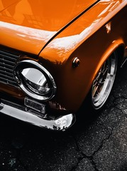 orange old classic vintage car
