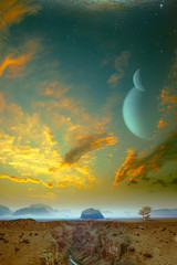 Another World coming soon. Sci-Fi abstract backgrounds
