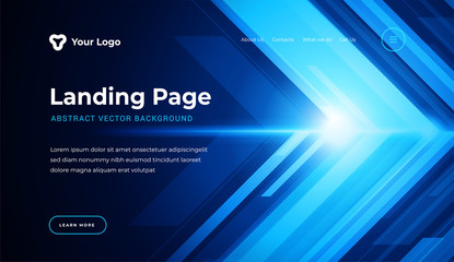 Abstract background dynamic geometric shapes website landing page or banner template modern style vector illustration