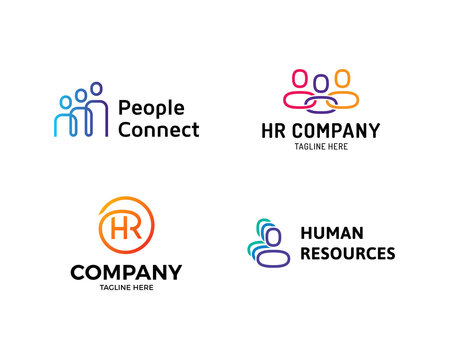 HR Logo Design Template Set