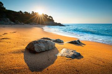 Fototapete - Summer seascape. Cala Boadella beach, Spain