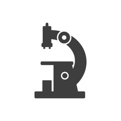 Microscope icon. Vector on a white background