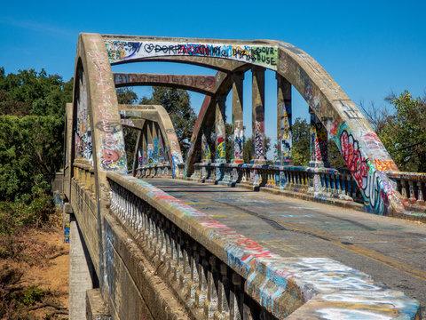 Graffiti Covered Bridge in Yolo County Ca.