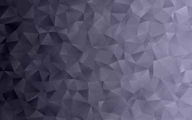 Low Poly Charcoal Black Gray Gradient Vector Background with 3D Triangle Pattern. Dark Silver Metallic Sparkling Facets. Geometric Crystal Texture for Web, Social Media, Mobile or Print Design