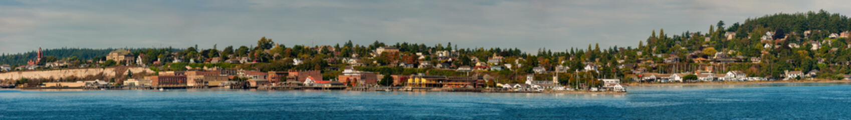 Wall Mural - Panoramic View of Historic Port Townsend, Washington. Port Townsend is steeped in fascinating history, from its  Native American roots to its Victorian architecture and maritime legacy.