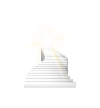 Stairs going up into the sky. Vector stairs illustration