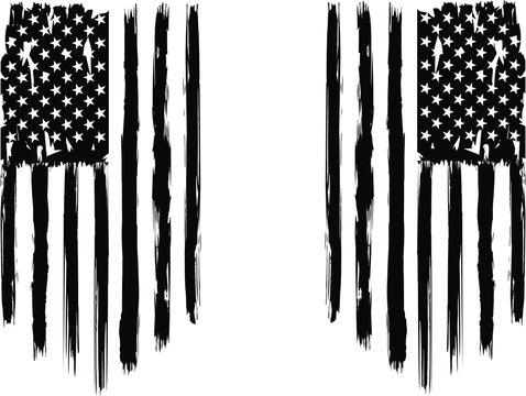USA Flag - Distressed american flag.  EPS 10, patriot flag, military flag, american flag