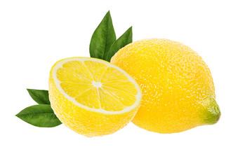 Fototapete - lemon isolated on white background