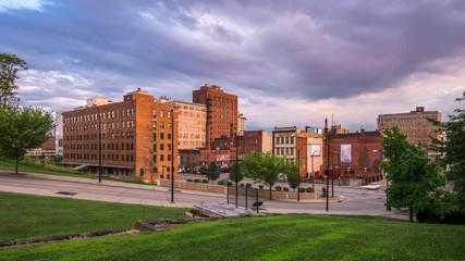 Fototapete - Youngstown, Ohio, USA downtown skyline at dsuk.