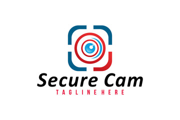secure cam logo icon vector isolated
