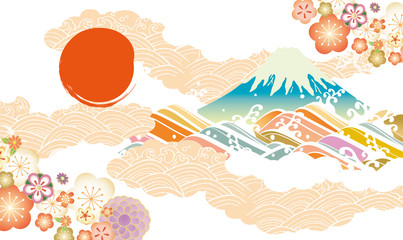 2020富士山年賀 Fototapete