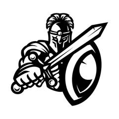 Vector of spartan warrior mascot
