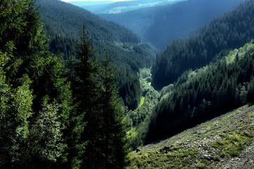 Transalpina Road Alpine Gorge View From Above, Romania