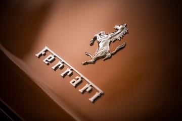 Ferrari logo on a car's hood