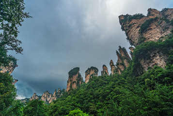 Gathering of Heavenly Soldiers scenic rock formations