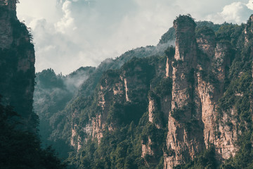 Rock formations of Tianzi mountains