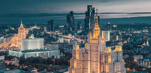 Foto op Plexiglas Moskou Moscow bird's-eye view