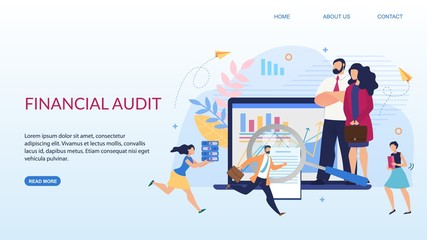 Landing Page Offering Financial Audit Service