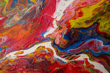 color paintings with various abstract colors