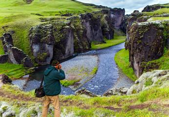 Fototapete - Fyadrarglyufur Canyon